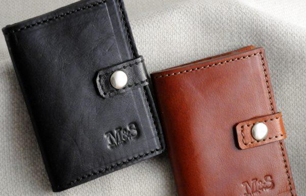 Porta schede in pelle M&S