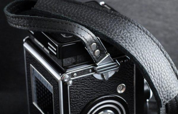 Tracolla in pelle M&S per Rolleiflex