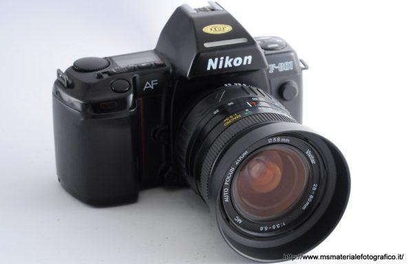 Kit Fotocamera Nikon F-801 + Obiettivo Vivitar 28-80mm f/3,5-5,6