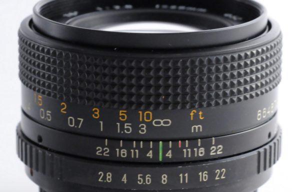 Obiettivo Seimar 28mm f/2,8 per Yashica/Contax