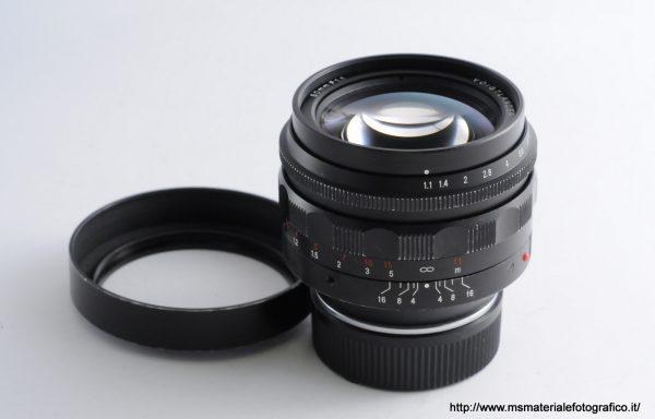 Obiettivo Voigtlander Nokton 50mm f/1,1 VM