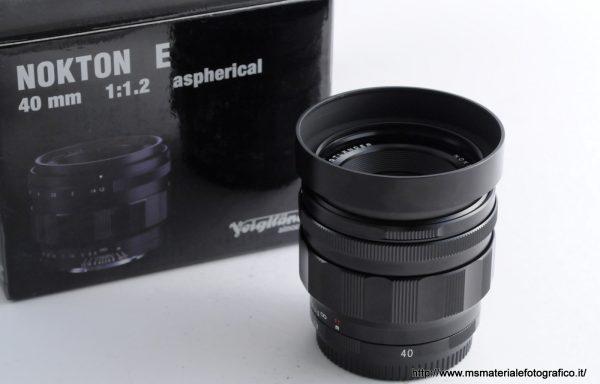 Obiettivo Voigtlander Nokton 40mm f/1,2 E-Mount
