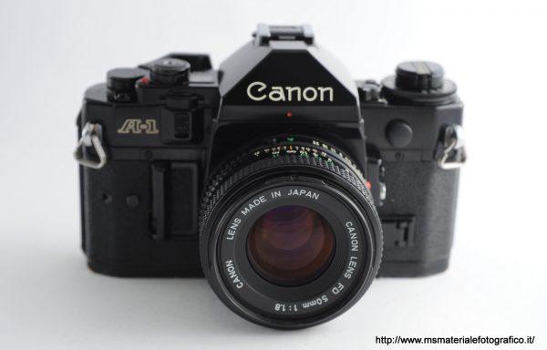 Kit Fotocamera Canon A-1 + Obiettivo Canon FD 50mm f/1,8