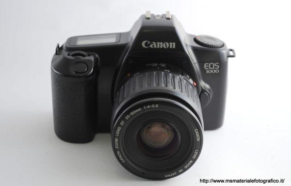 Kit Fotocamera Canon EOS 1000 + Obiettivo Canon EF 35-80mm f/4-5,6