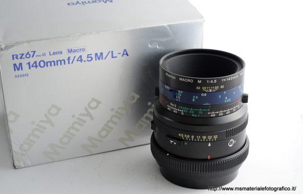 Obiettivo Mamiya M 140mm f/4,5 M/L-A + Tubi di Prolunga Mamiya