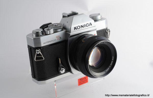 Kit Fotocamera Autoreflex T3 + Obiettivo Konica Hexanon AR 50mm f/1,7