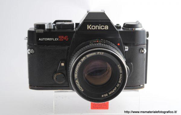 Kit Fotocamera Konica Autoreflex T4 + Obiettivo Konica Hexanon AR 50mm f/1,7