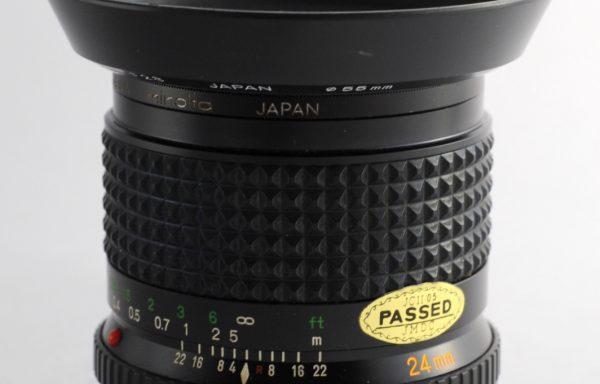 Obiettivo Minolta Rokkor 24mm f/2,8