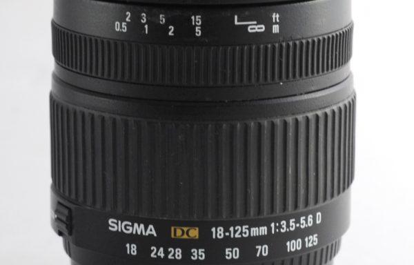 Obiettivo Sigma DC 18-125mm f/3,5-5,6 D per Nikon