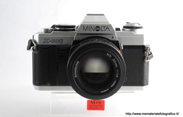 Kit Fotocamera Minolta X-500 + Obiettivo Samsung MD 50mm f/1,4
