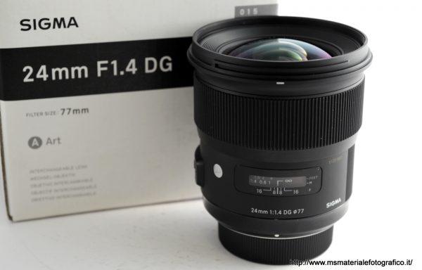 Obiettivo Sigma Art 24mm f/1,4 DG per Nikon