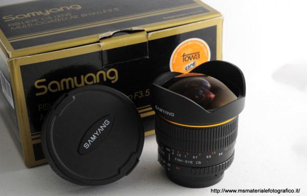 Obiettivo Samyang AE 8mm f/3,5 per Nikon