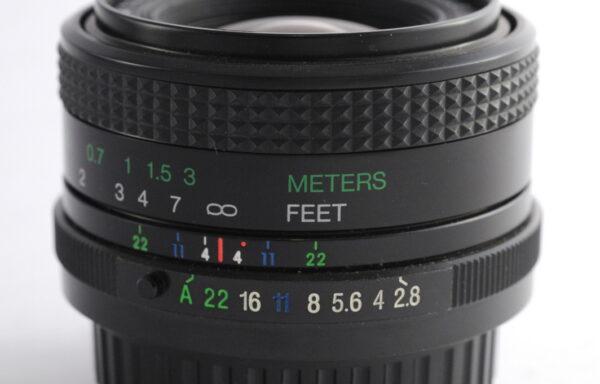 Obiettivo Vivitar 28mm f/2,8 per Pentax