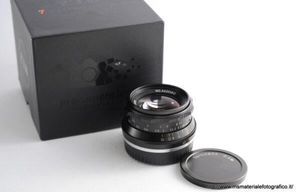 Obiettivo 7Artisans 35mm f/1,2 per Fujifilm XF