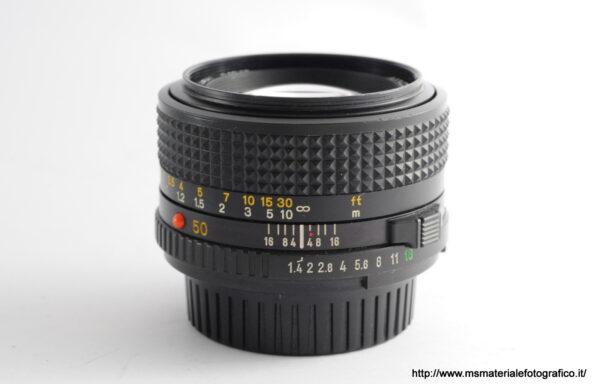 Obiettivo Minolta MD 50mm f/1,4