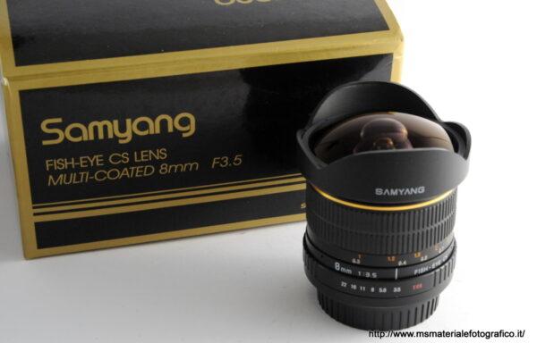 Obiettivo Samyang 8mm f/3,5 per Canon