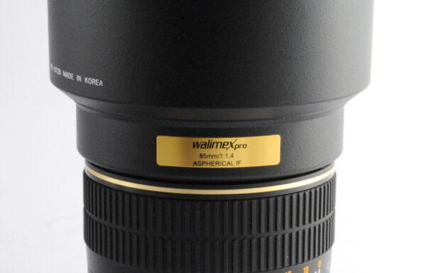 Obiettivo Walimex Pro 85mm f/1,4 IF per Nikon