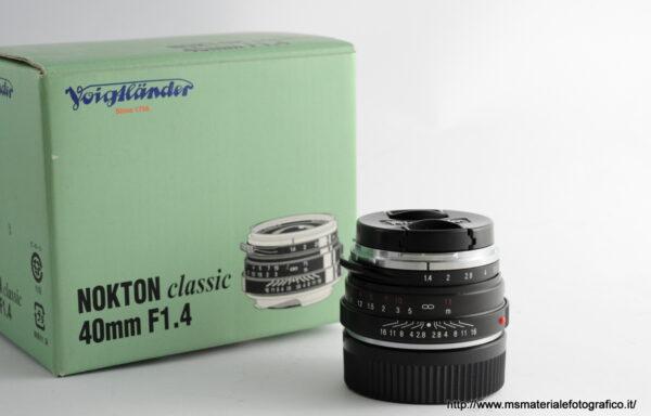 Obiettivo Voigtlander Nokton 40mm f/1,4 VM