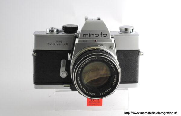 Kit Fotocamera Minolta SRT 101 + Obiettivo Minolta MC Rokkor-PF 55mm f/1,7