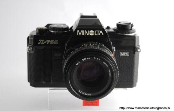 Kit Fotocamera Minolta X-700 + Obiettivo Minolta MD 50mm f/1,7