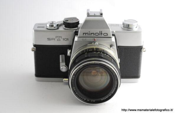 Kit Fotocamera Minolta SRT 101 + Obiettivo Minolta Rokkor-SG 28mm f/3,5