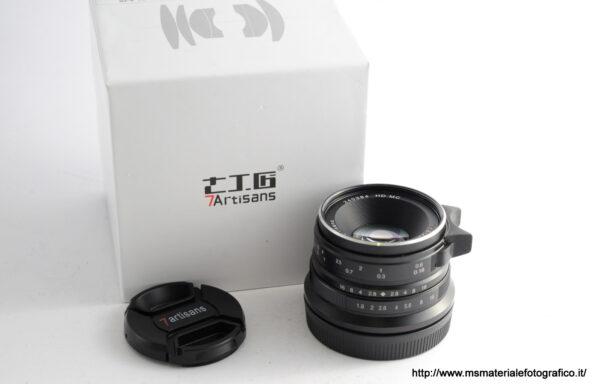 Obiettivo 7Artisans 25mm f/1,8 Nex APS-C