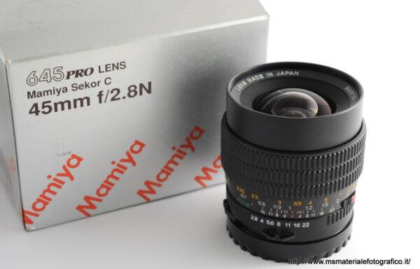 Obiettivo Mamiya-Sekor C 45mm f/2,8 N per Mamiya 645