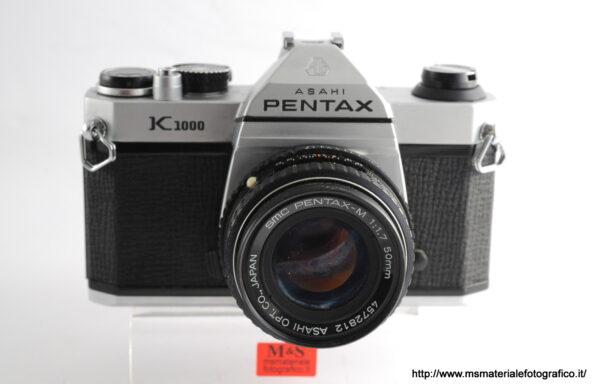 Kit Fotocamera Pentax K1000 + Obiettivo Pentax-M 50mm f/1,7