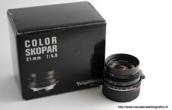 Obiettivo Voigtlander Color Skopar 21mm f/4 VM