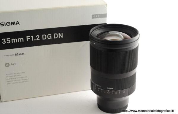Obiettivo Sigma Art 35mm f/1,2 DG DN E-Mount