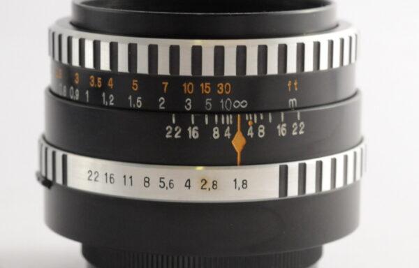 Obiettivo Aus Jena Pancolar 50mm f/1,8 M42