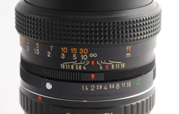 Obiettivo Konica Hexanon AR 50mm f/1,4 + Anello E-Mount